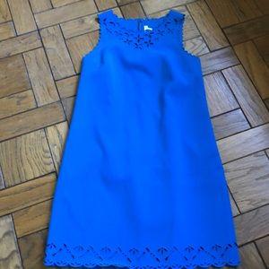 J. Crew Royal Blue Laser Cut Sheath Dress